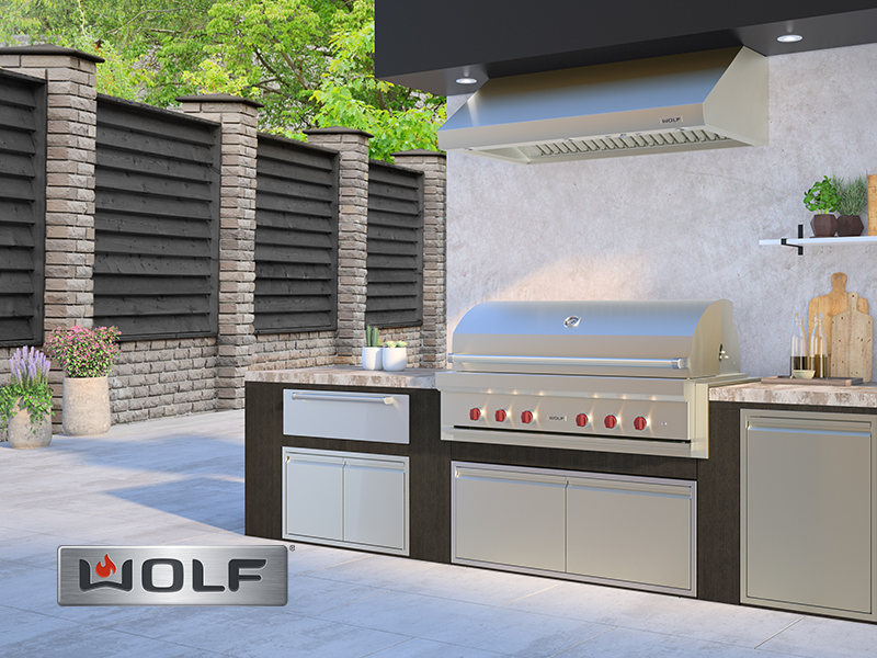 Wolf outdoor cooking