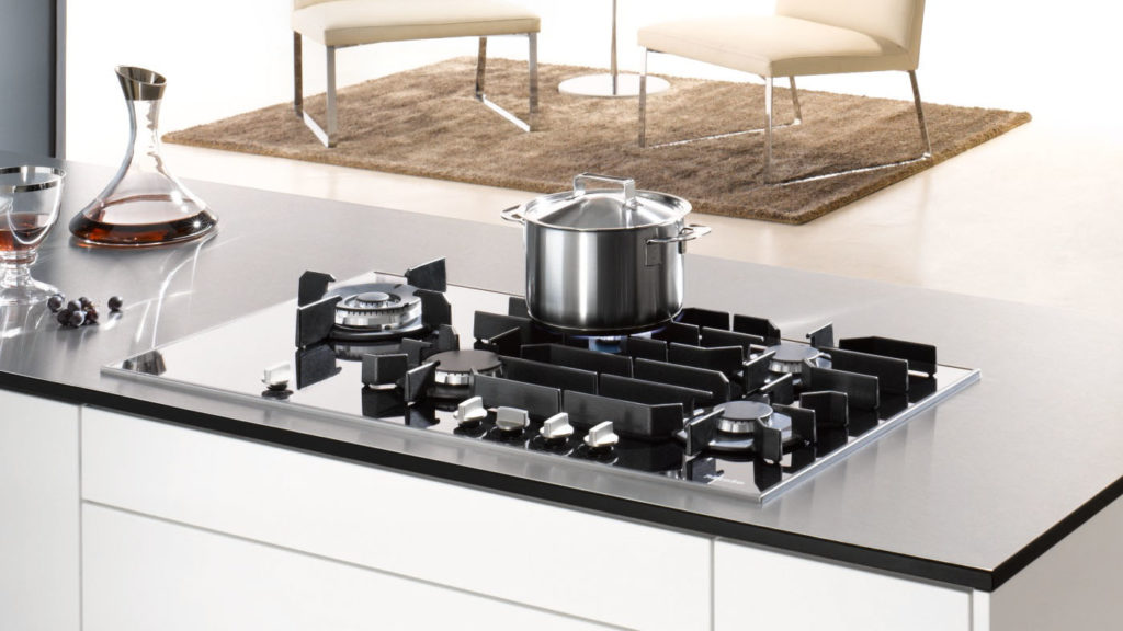 Miele's elegant gas on glass cooktop