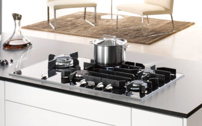 Elegant Gas on Glass Cooktops from Miele