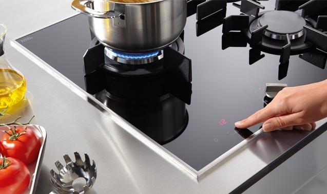 Miele Gas on Glass Cooktop
