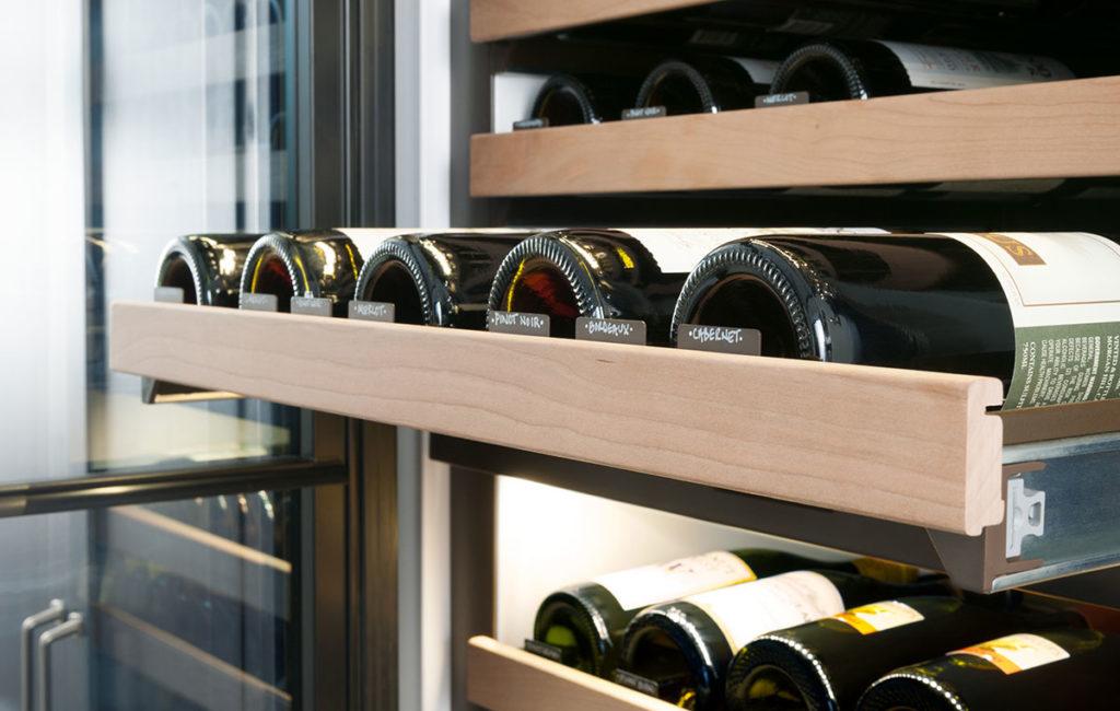 Sub-Zero wine storage inventory tiles